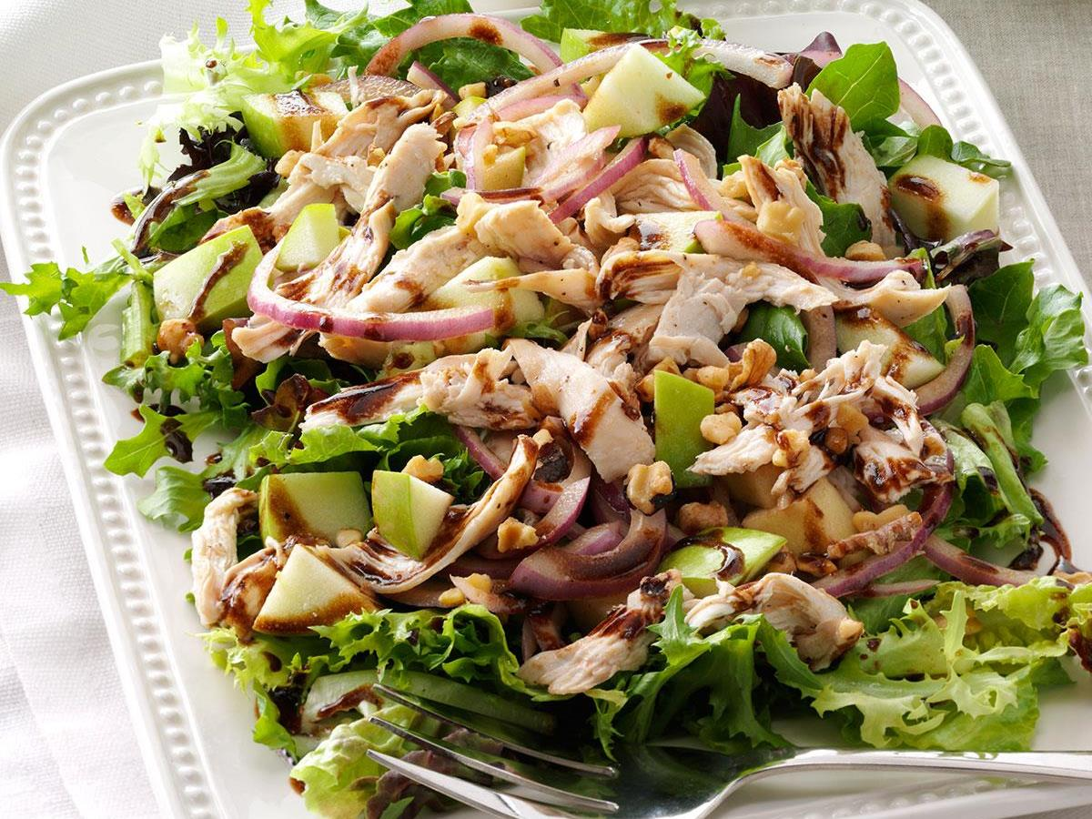 Chicken & Apple Salad with Greens Recipe | Taste of Home