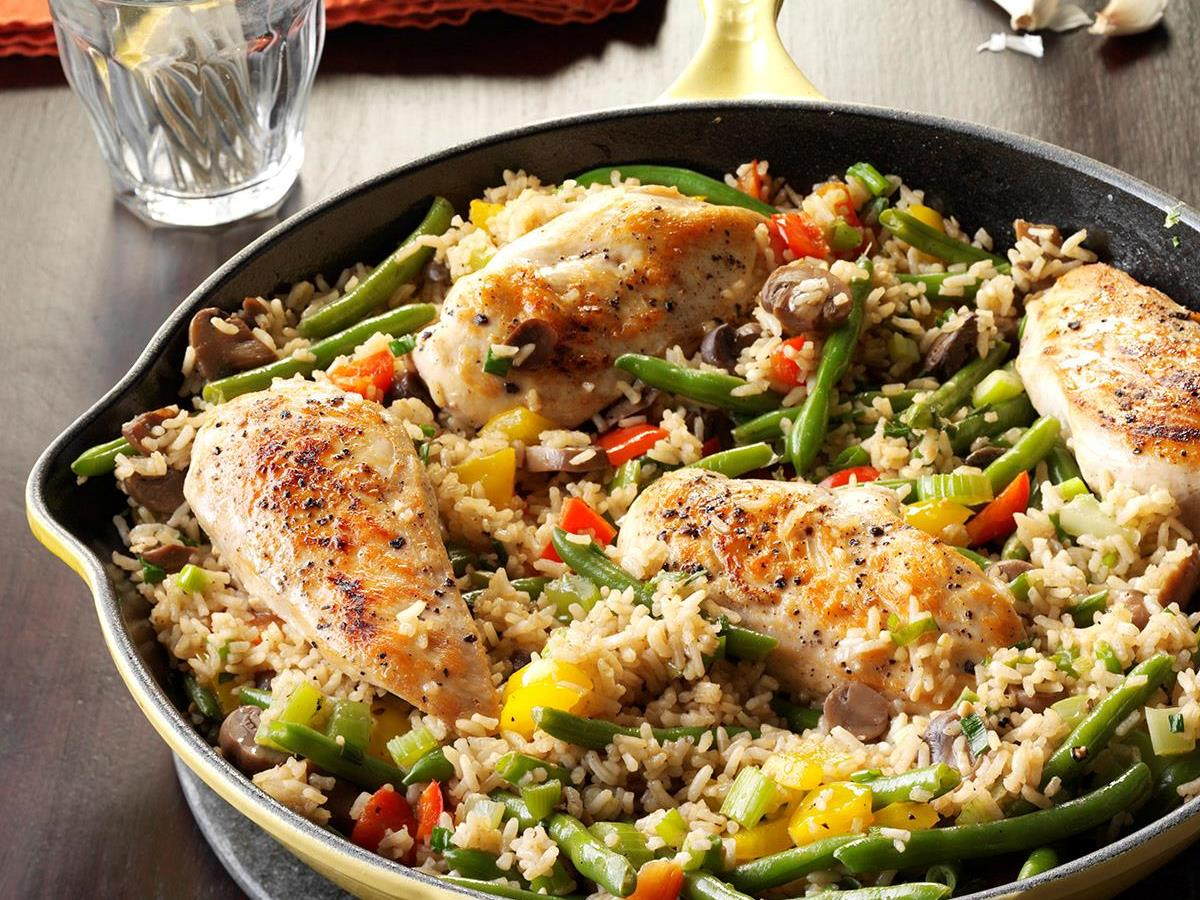 Chicken Rice Skillet Recipe How To Make It Taste Of Home