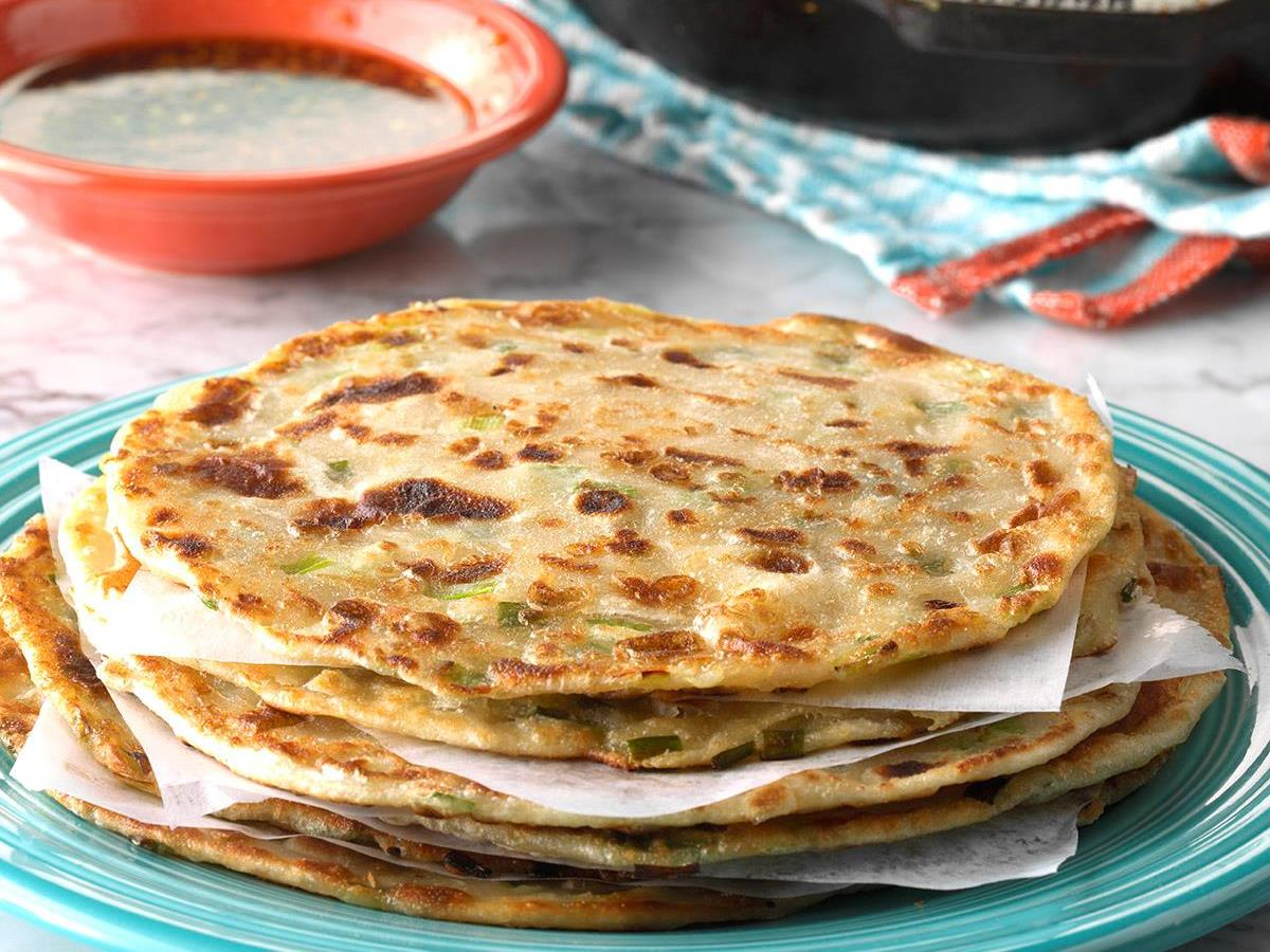 Chinese Scallion Pancakes Recipe How To Make It Taste Of Home