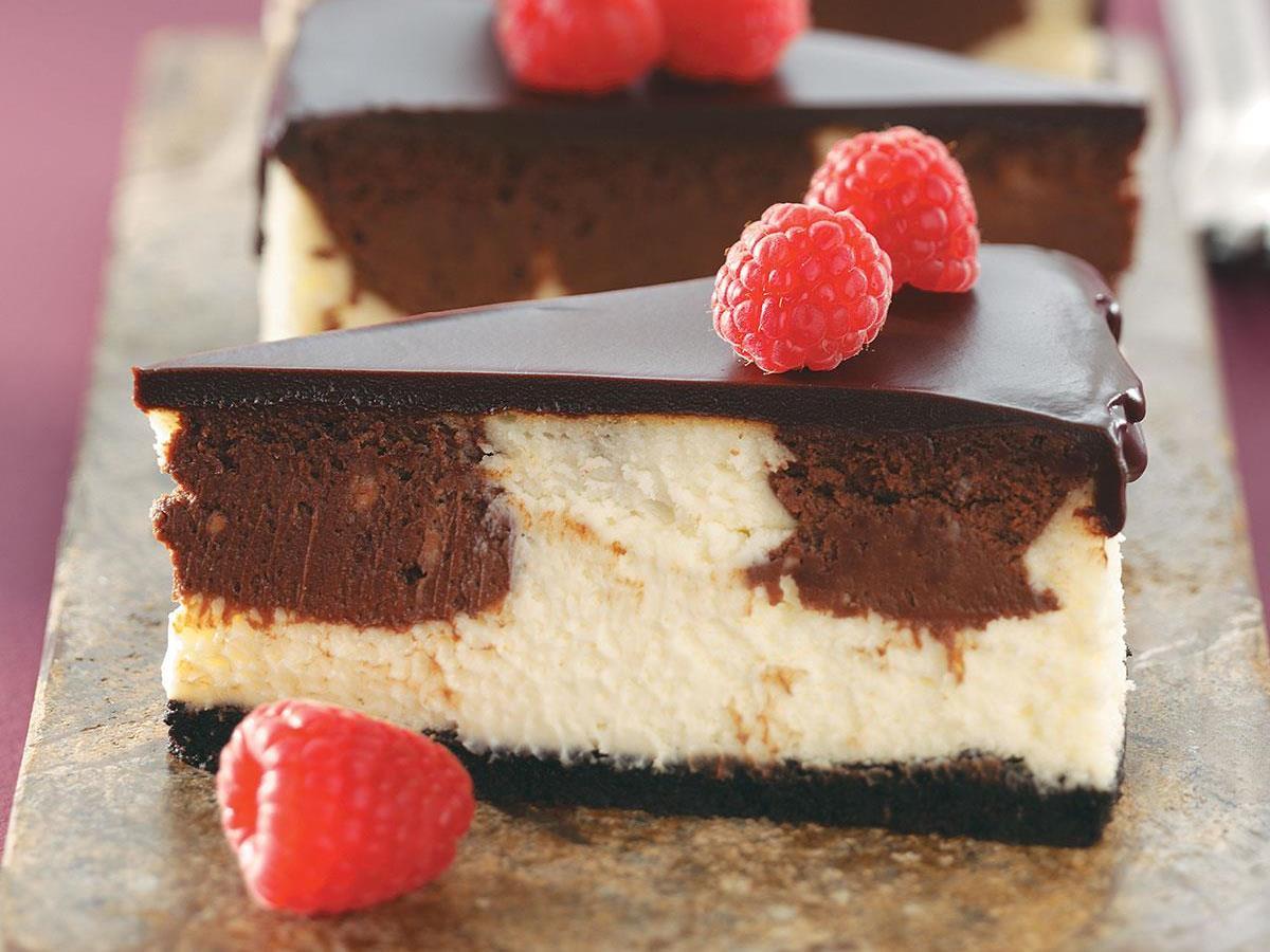 Chocolate Raspberry Cheesecake Taste of Home