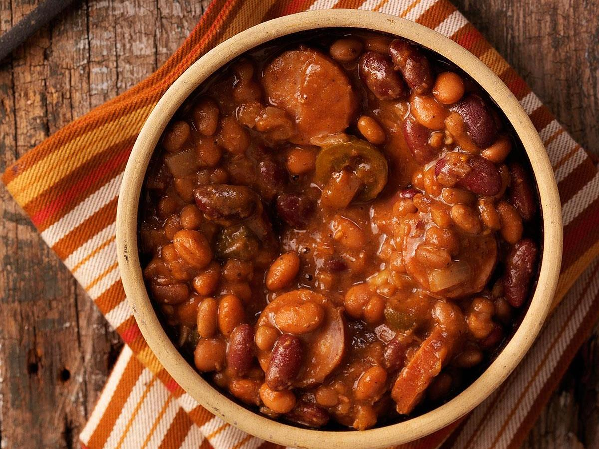 Chuck Wagon Beans With Sausage Recipe How To Make It Taste Of Home