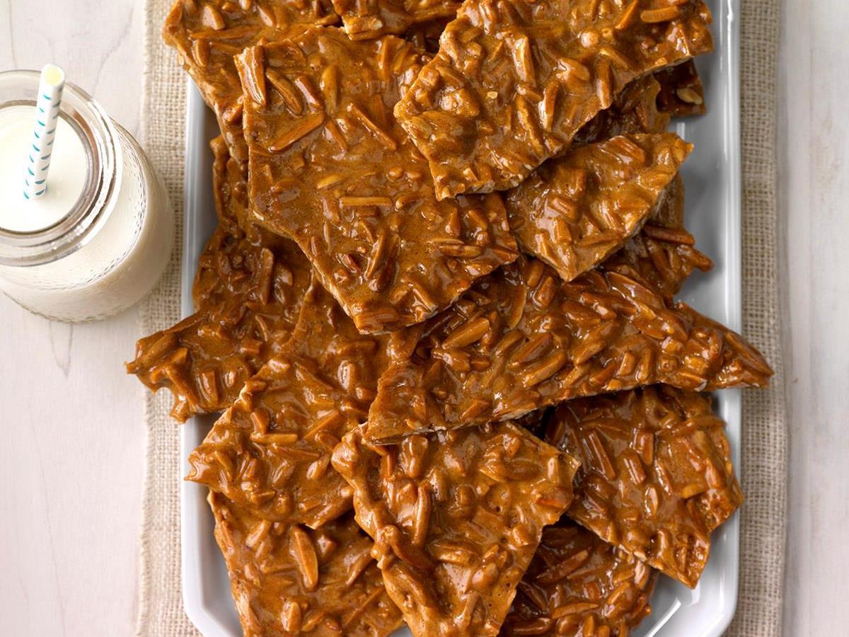 cinnamon almond brittle recipe taste of home