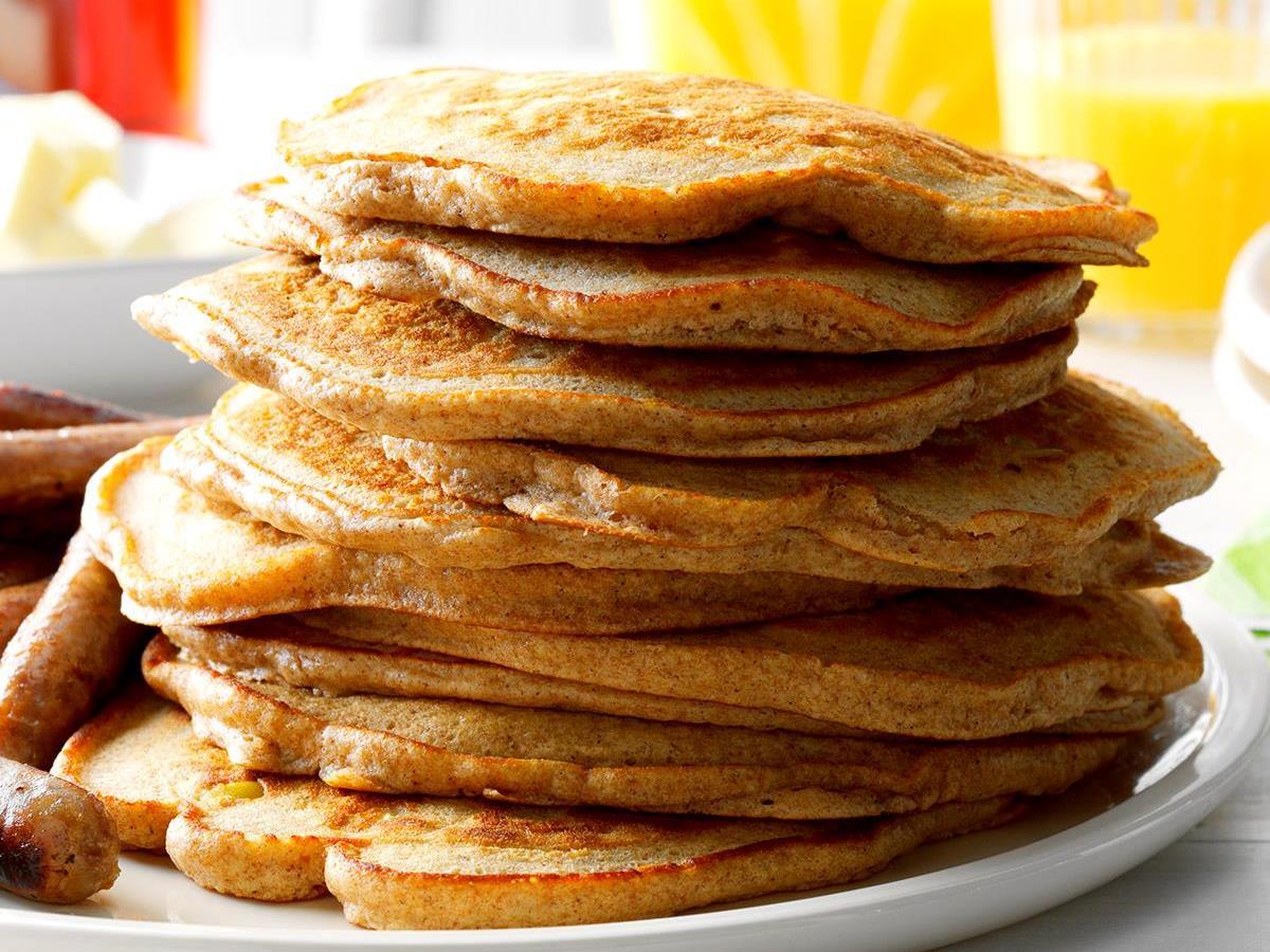 Cinnamon Apple Pancakes Recipe | Taste