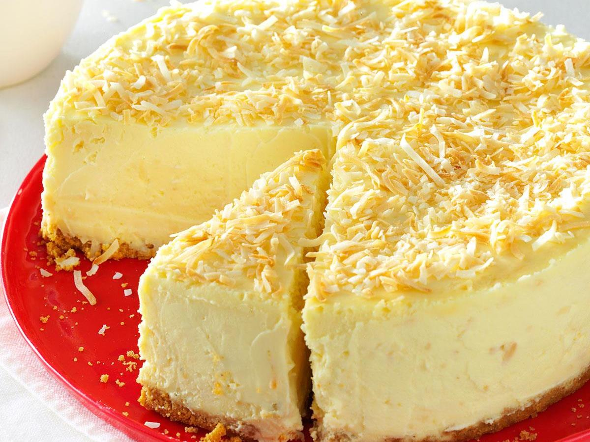 Coconut White Chocolate Cheesecake Recipe How To Make It Taste Of Home