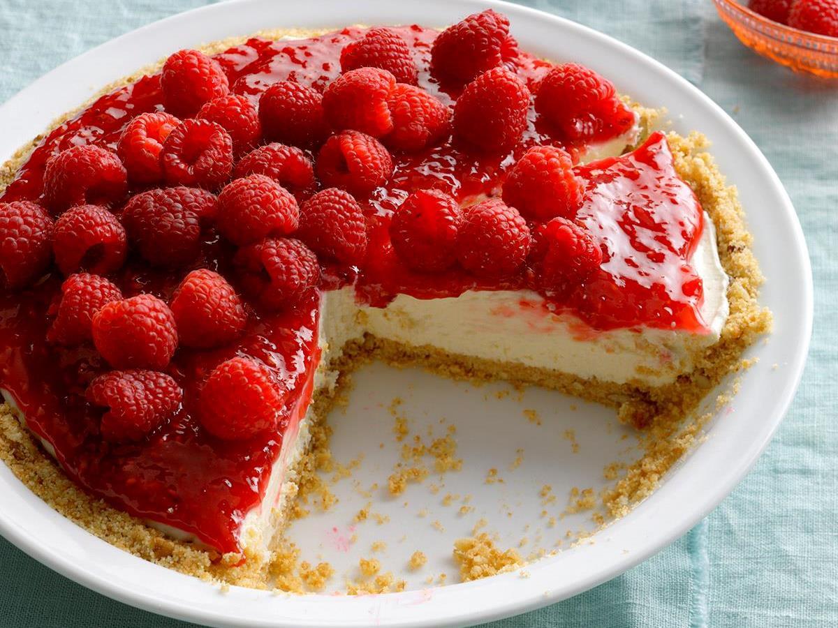 Contest-Winning Raspberry Cream Pie