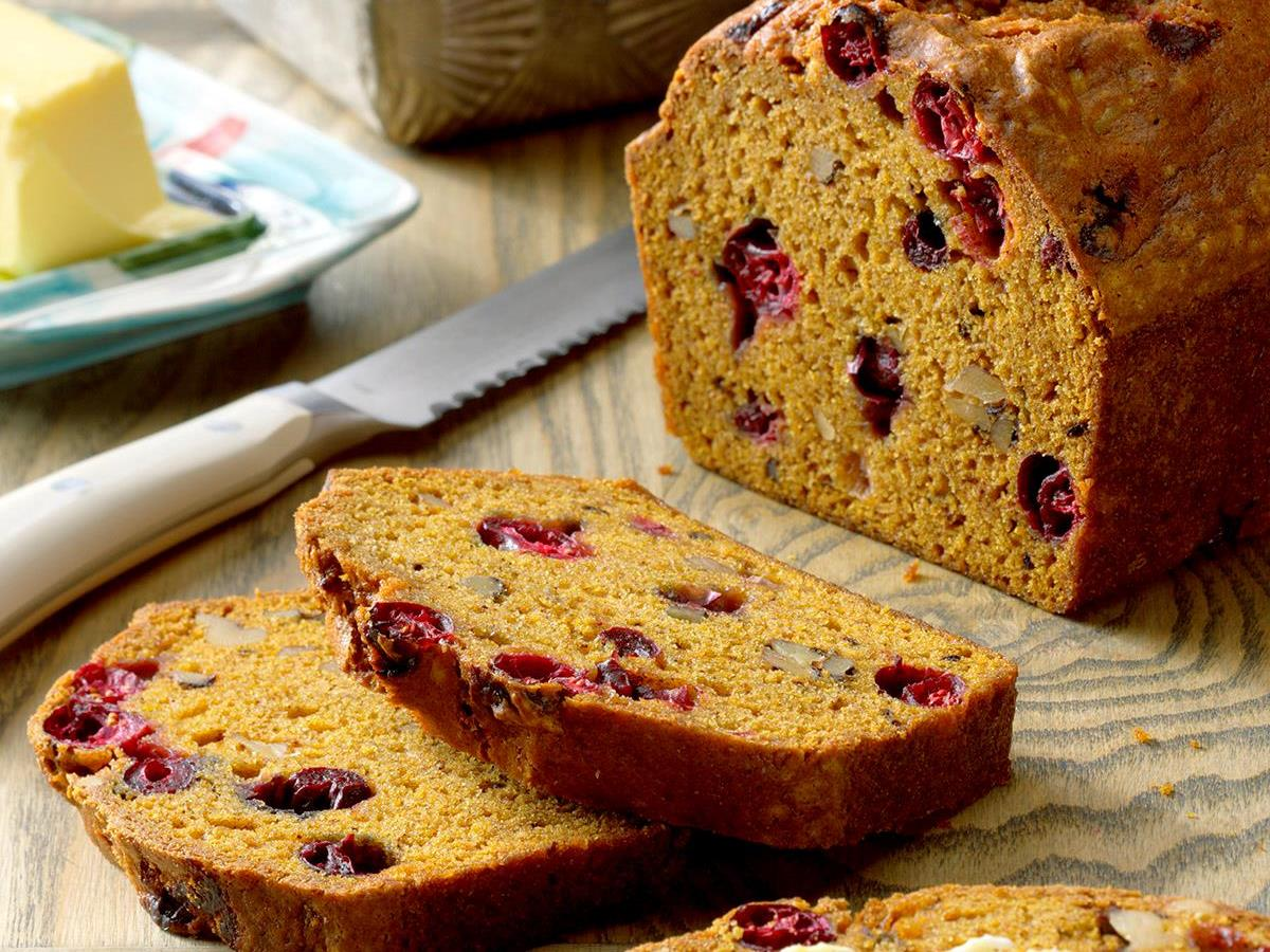 Pumpkin-Cranberry Bread