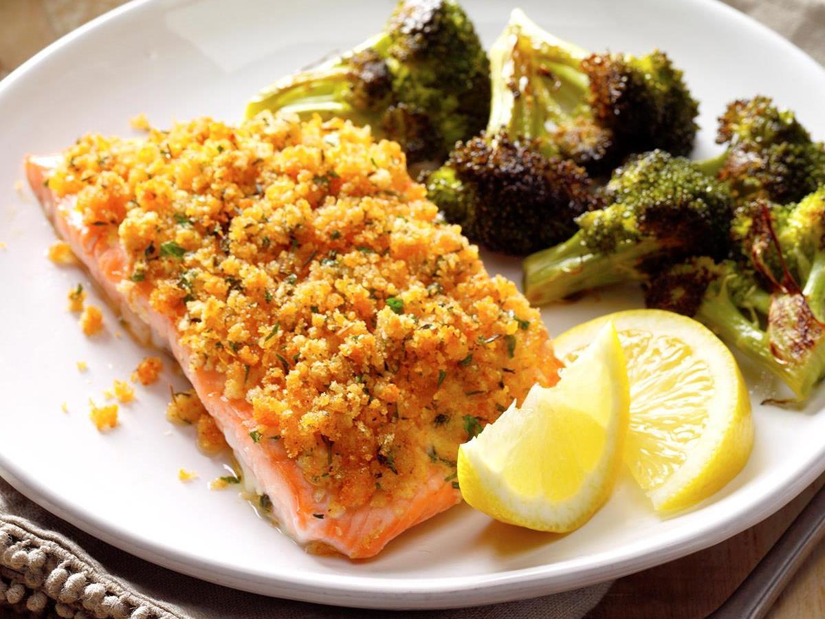 Crumb-Topped Salmon