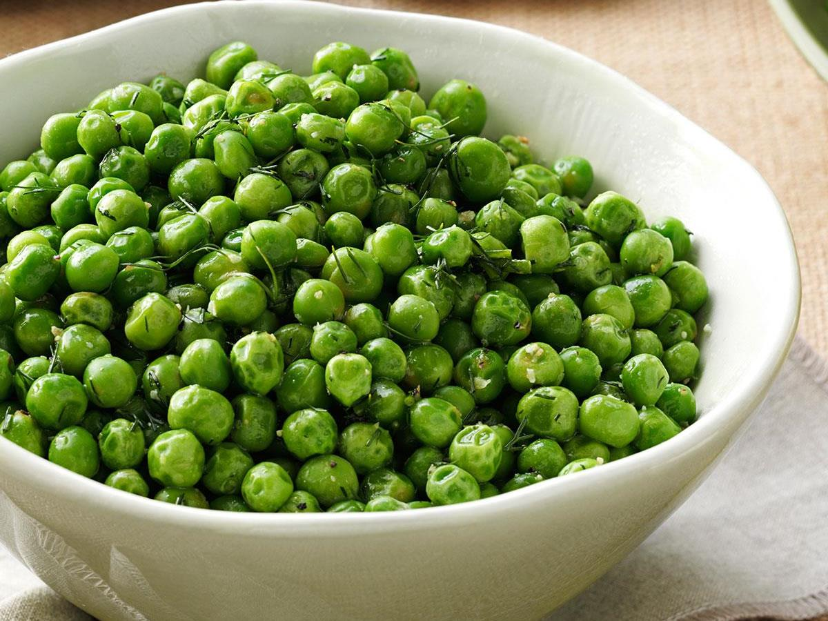 dill chive peas recipe taste of home