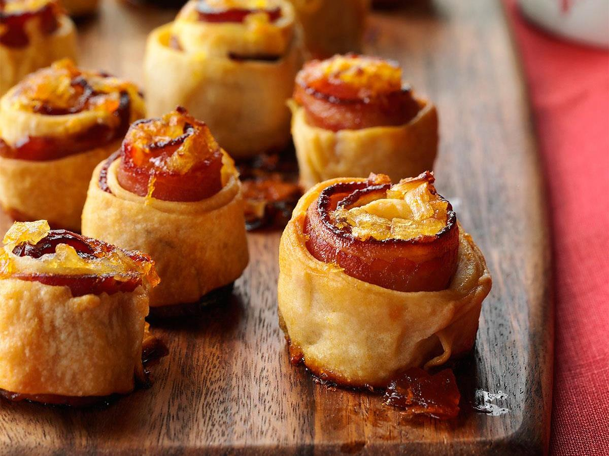 Apricot-Glazed Bacon Spirals
