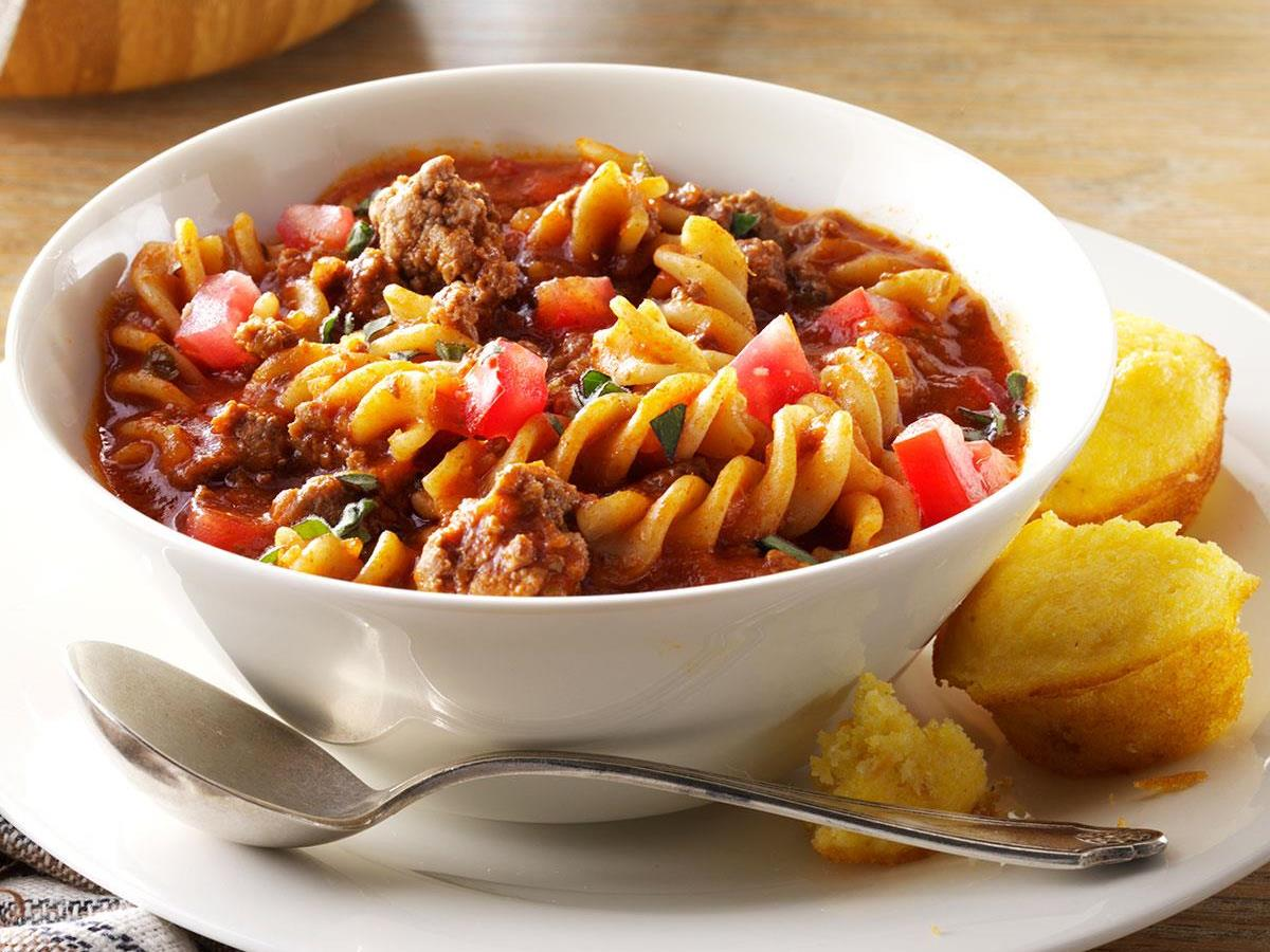 Gluten Free Chili Beef Pasta Recipe How To Make It Taste Of Home