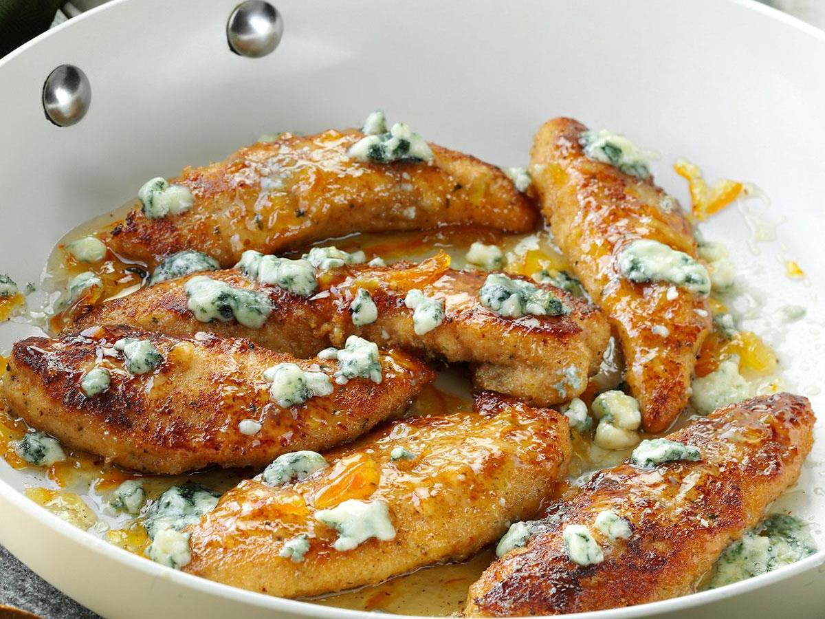 Gorgonzola orange chicken tenders taste of home forumfinder Gallery