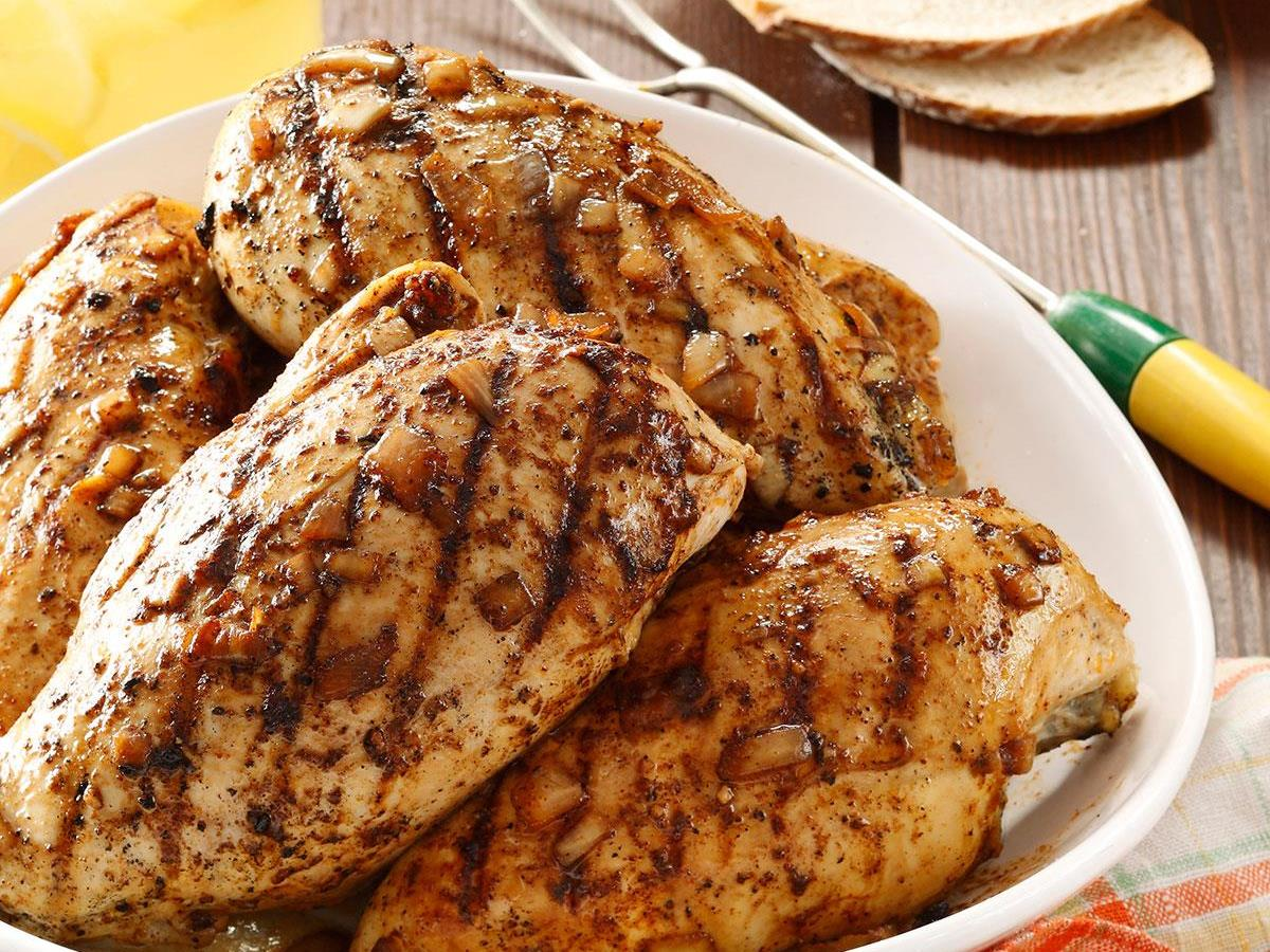 Grilled Barbecued Chicken