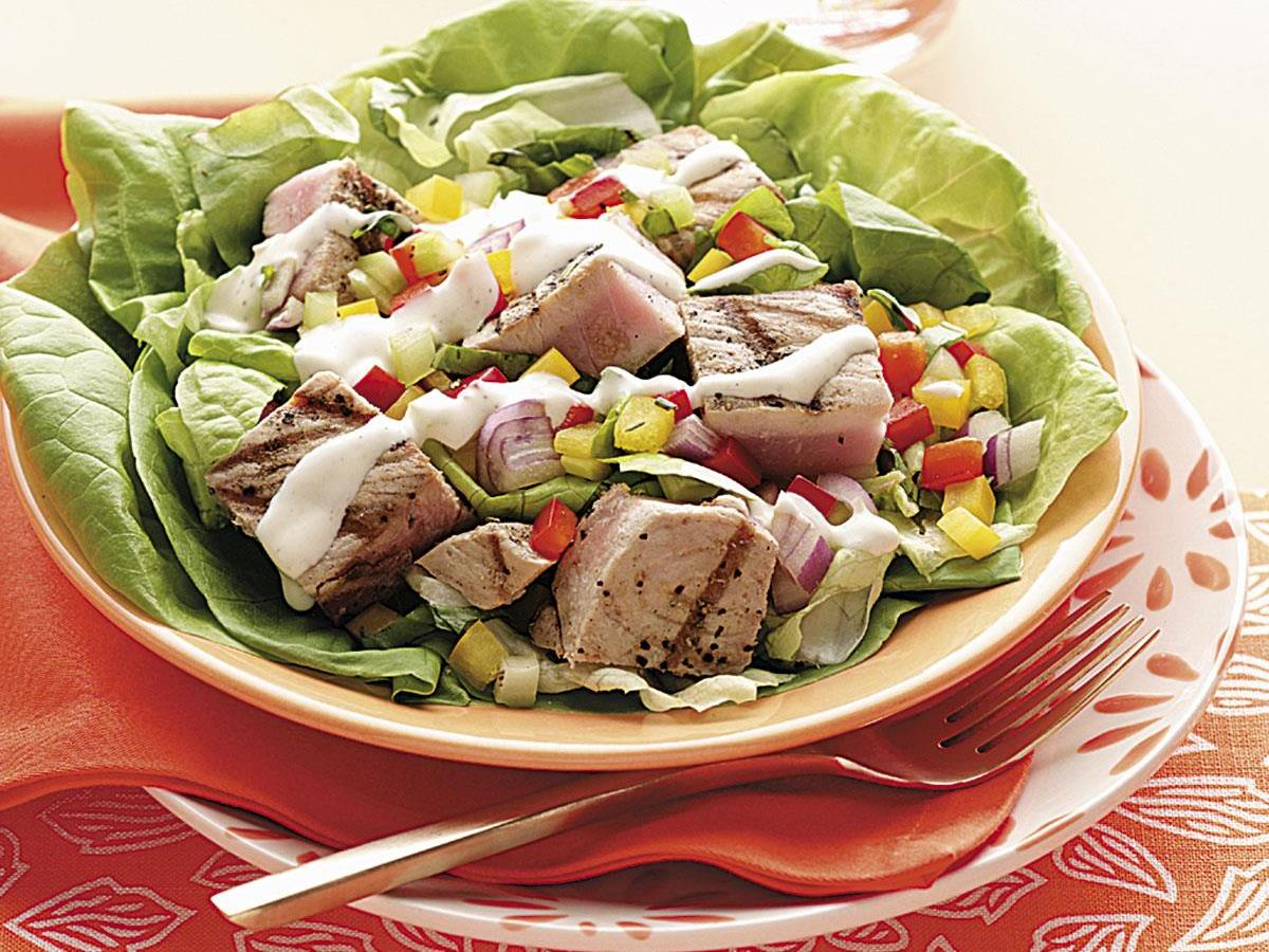 Grilled Tuna Bibb Salads Recipe