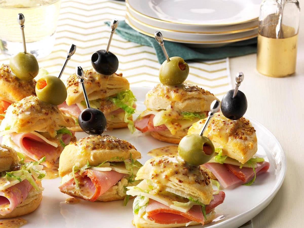 Ham 'n' Cheese Biscuit Stacks