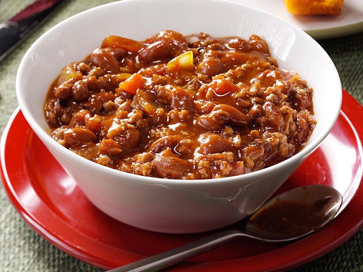 Hearty Beef Bean Chili Recipe How To Make It Taste Of Home