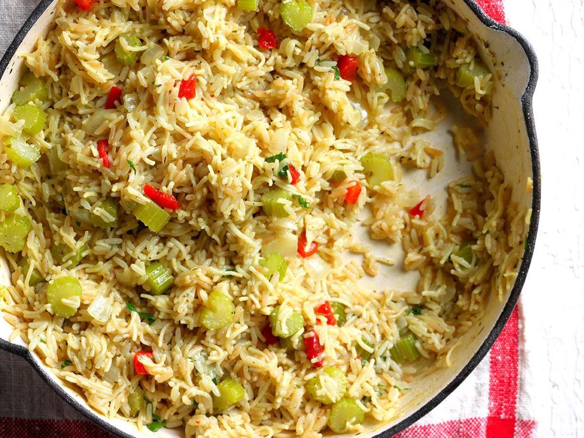 herbed rice pilaf recipe taste of home