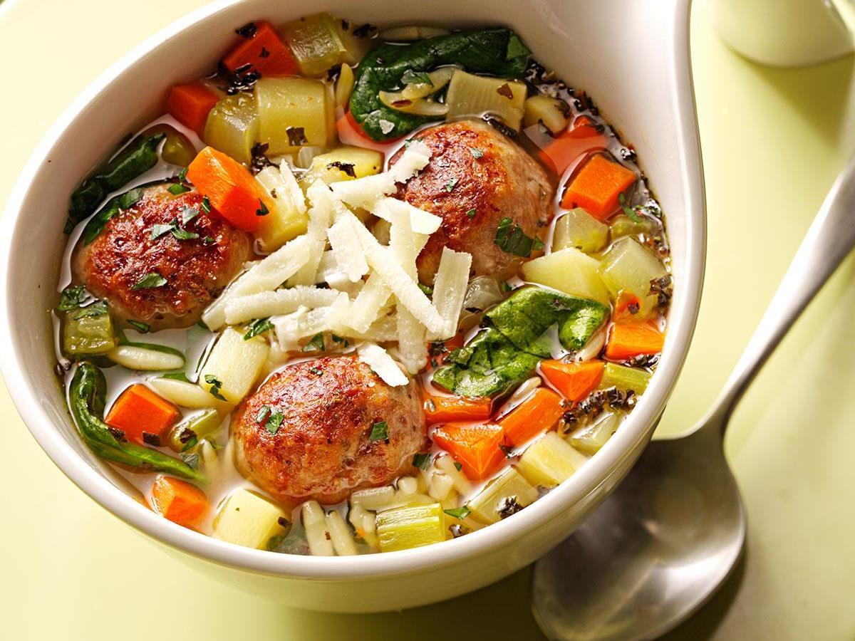 Light Italian Style Wedding Soup