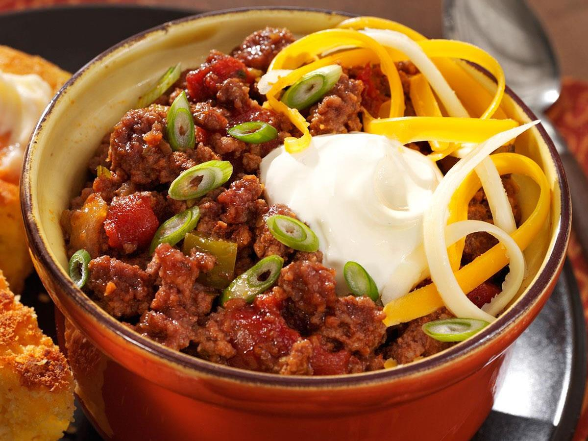 No Bean Chili Recipe How To Make It Taste Of Home