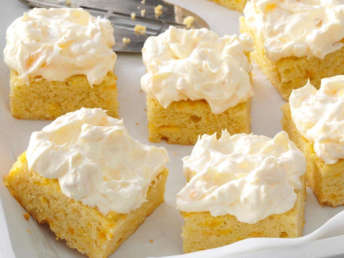 Marvelous Pineapple Orange Cake Recipe Taste Of Home Funny Birthday Cards Online Benoljebrpdamsfinfo
