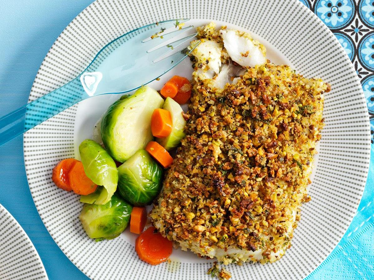 Pistachio Crusted Baked White Fish Fillet advise