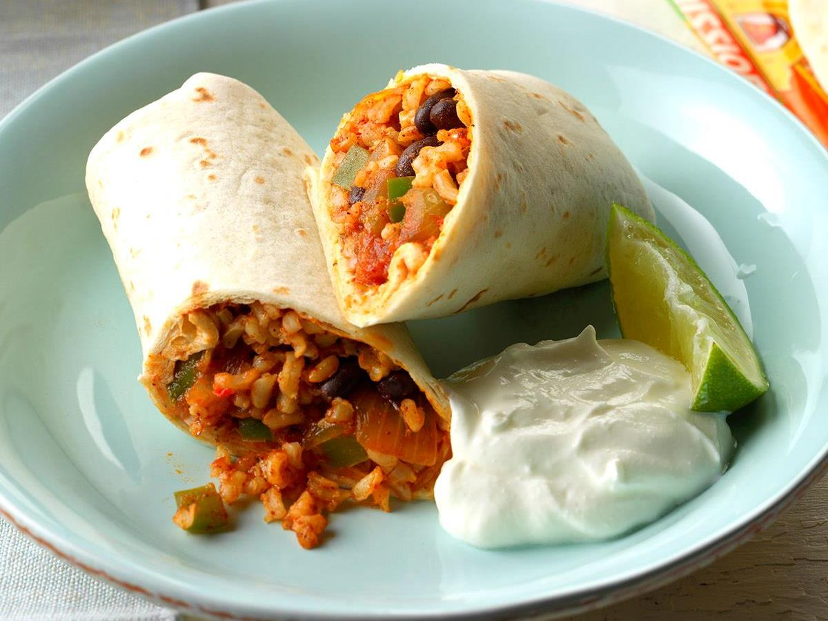 Quick Bean And Rice Burritos Recipe How To Make It Taste Of Home
