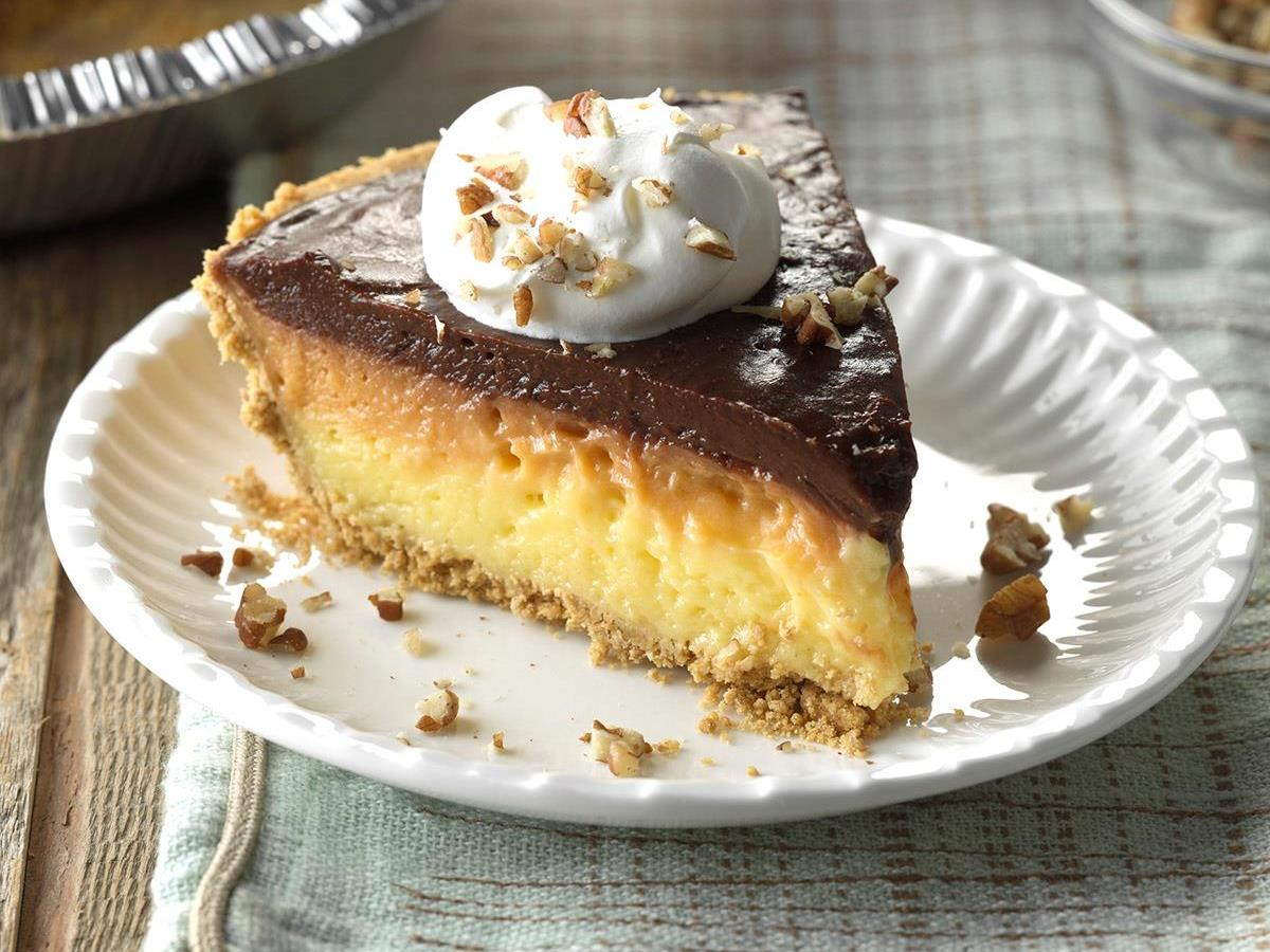Ribbon Pudding Pie Recipe How To Make It Taste Of Home