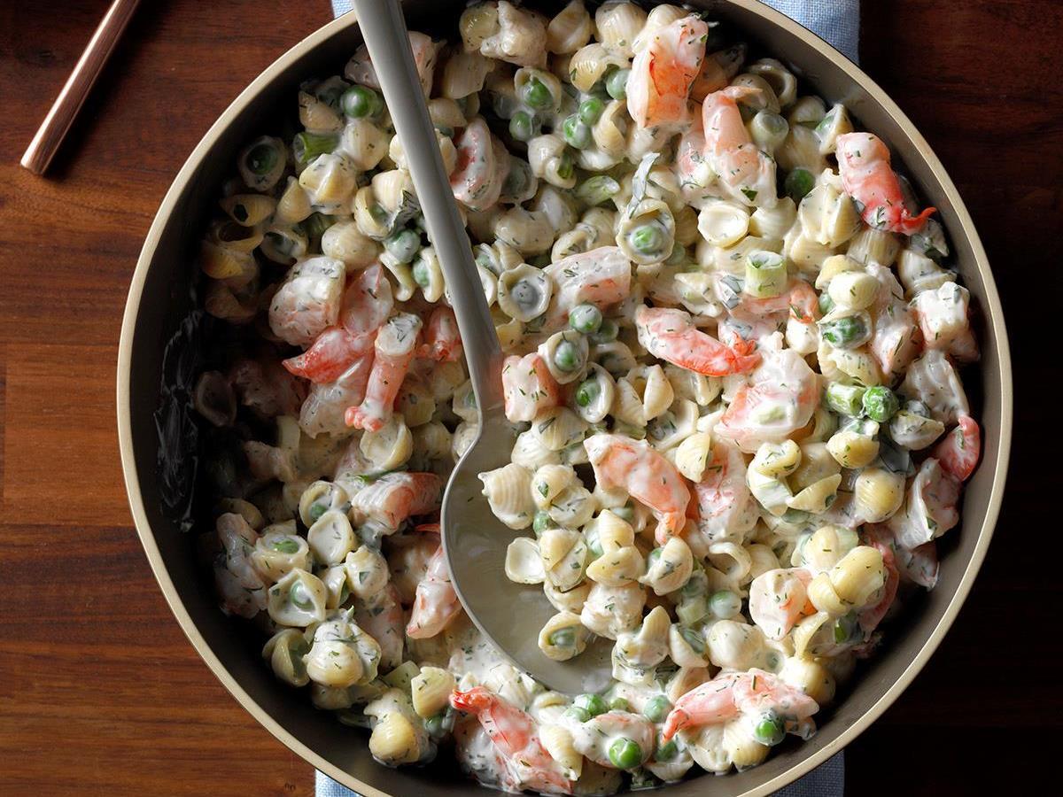 Shrimp Pasta Salad Recipe How To Make It Taste Of Home