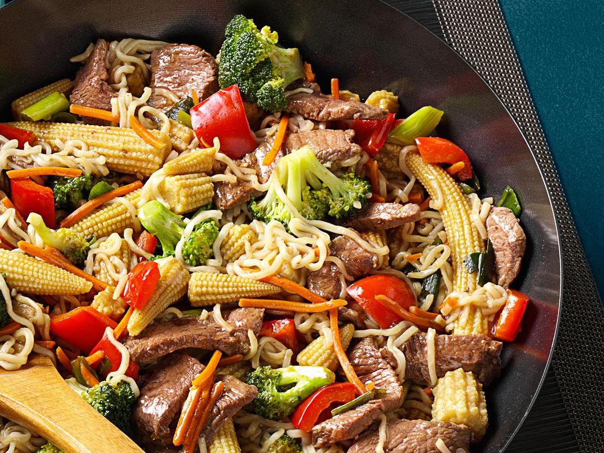Sirloin Stir Fry With Ramen Noodles Recipe How To Make It Taste Of Home