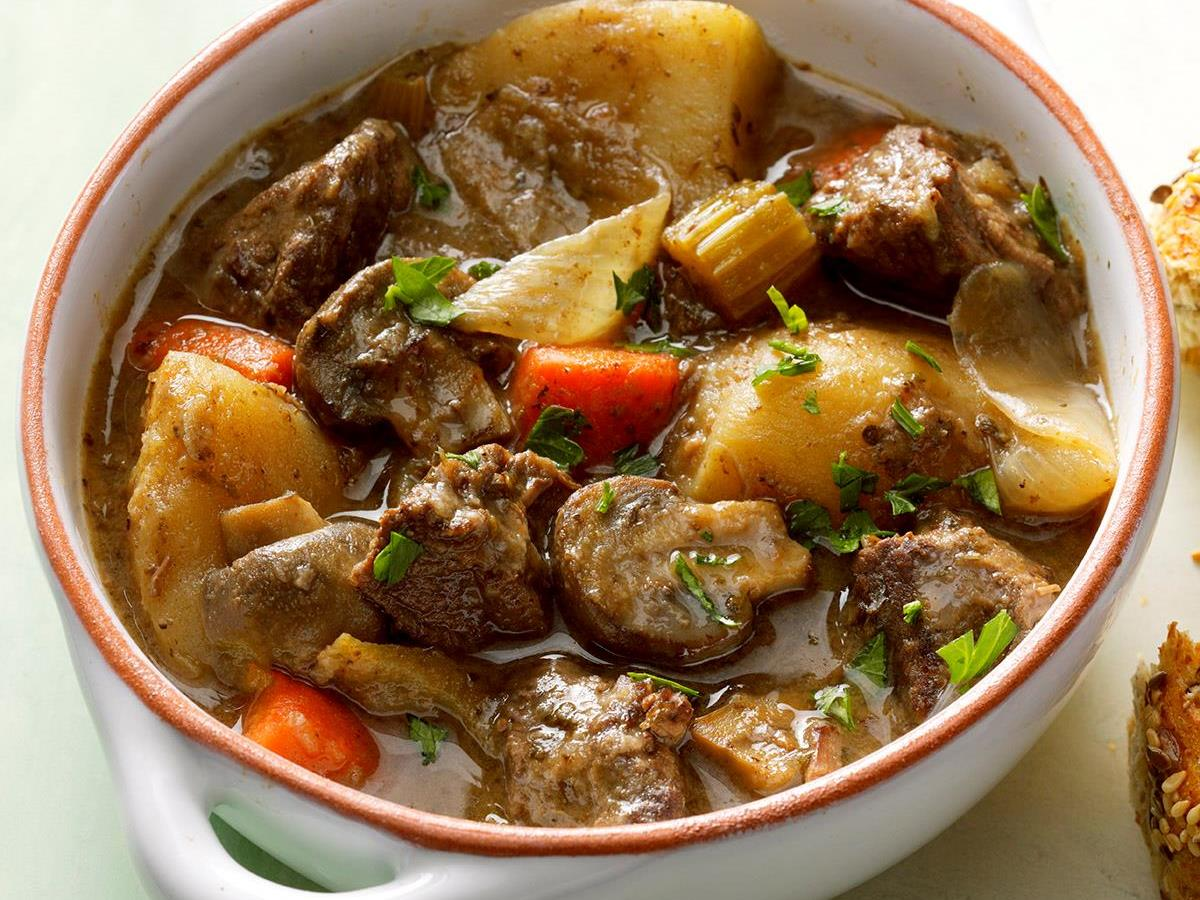 Slow-Simmered Burgundy Beef Stew
