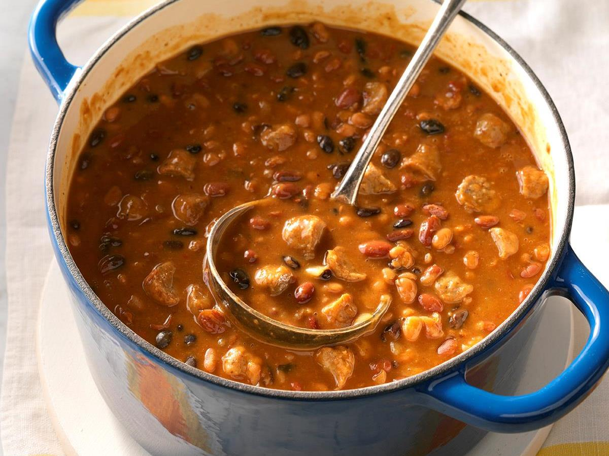 Spicy Chuck Wagon Beans Recipe How To Make It Taste Of Home
