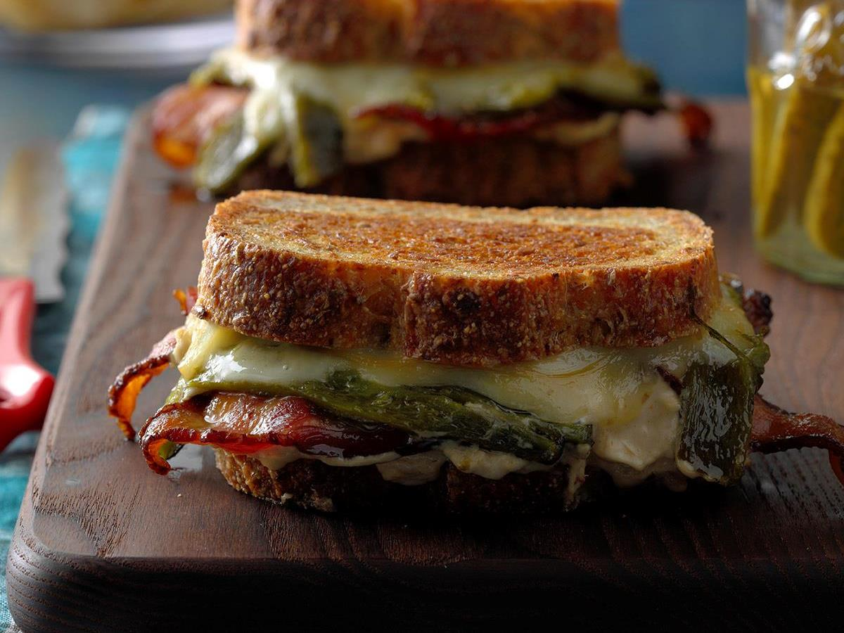 Stuffed Jalapeno Grilled Cheese