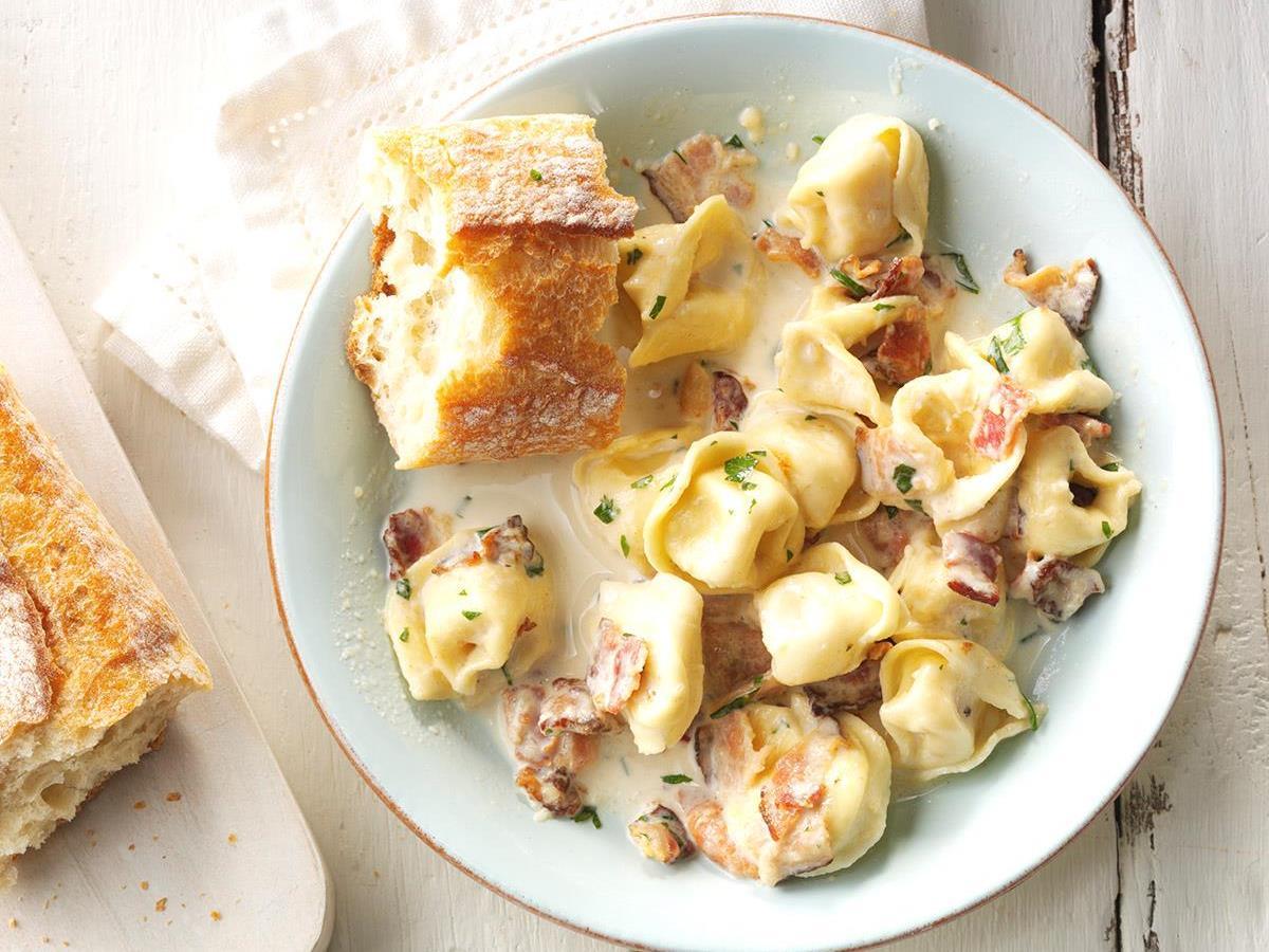 Tortellini Carbonara Recipe How To Make It Taste Of Home