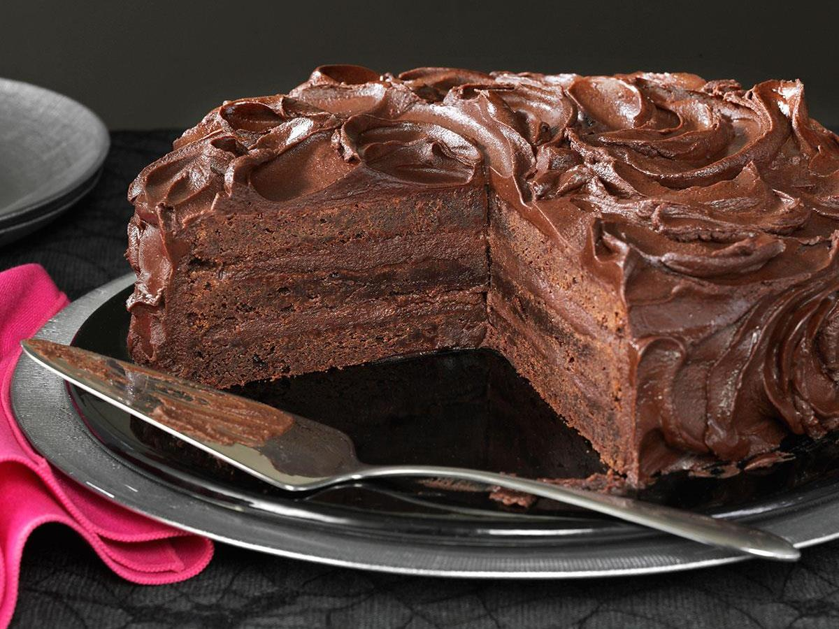 Triple Layer Brownie Cake Recipe Taste of Home