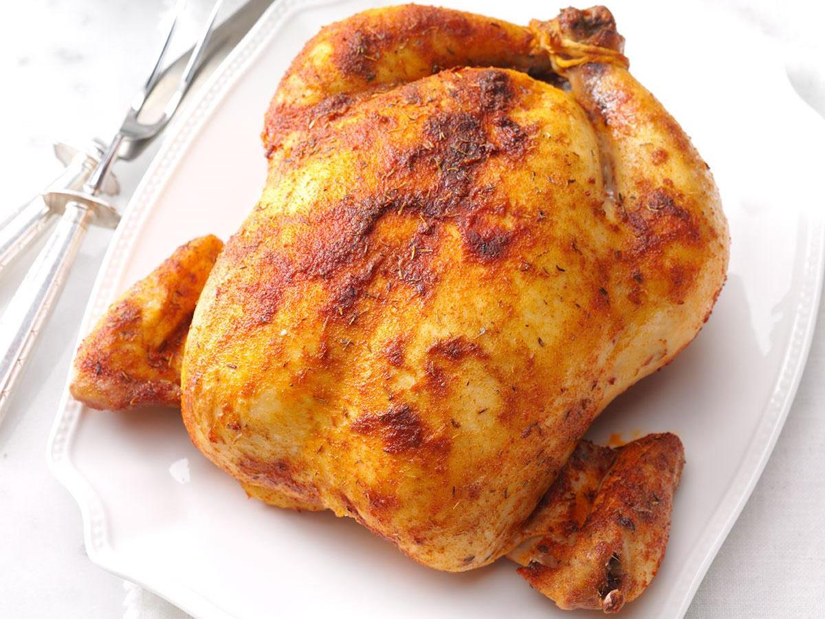 Savory Rubbed Roast Chicken