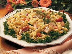 Salmon Pasta Salad Recipe How To Make It Taste Of Home