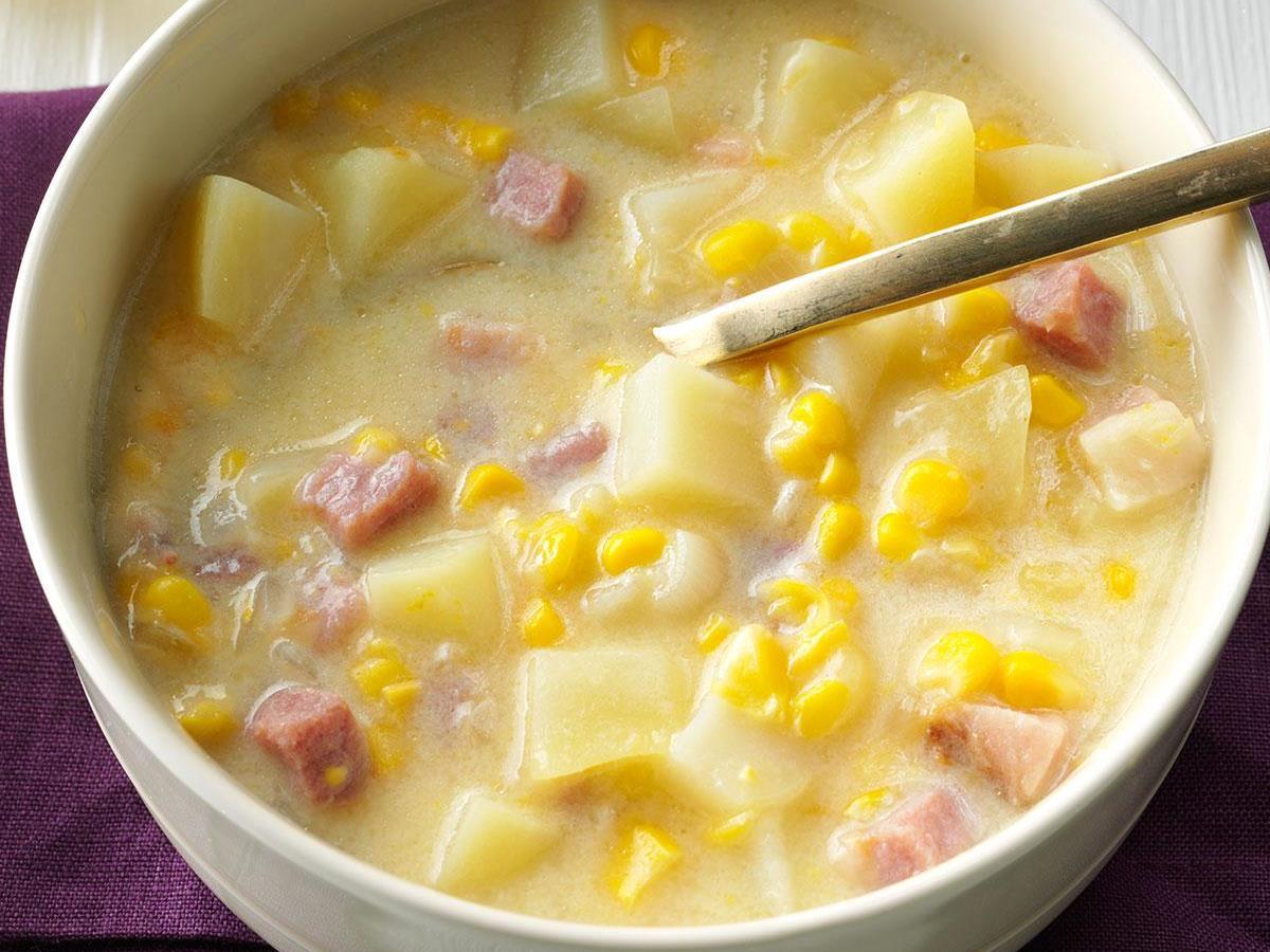 Smoky Cheddar, Ham and Corn Chowder