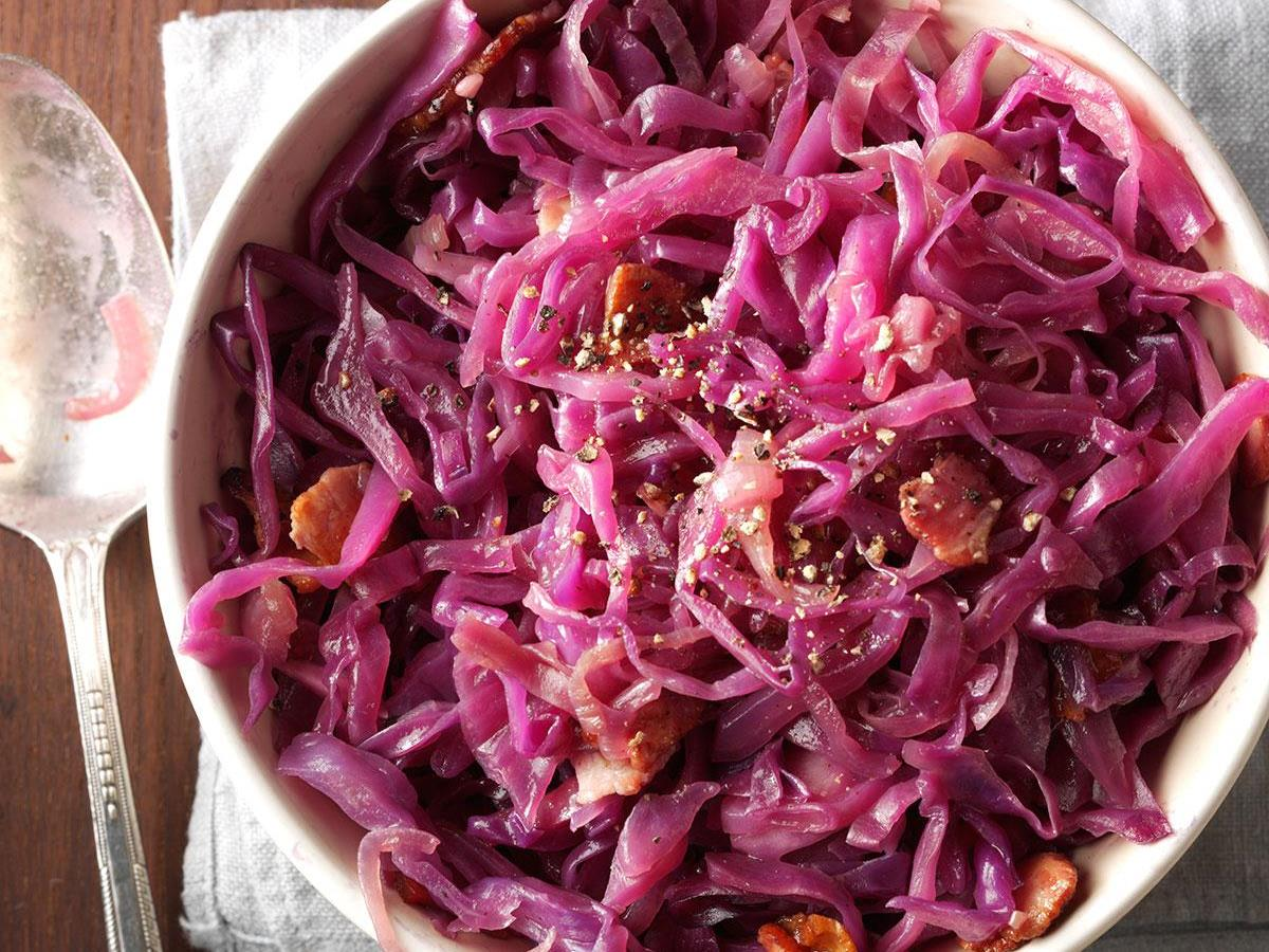 Red Cabbage With Bacon