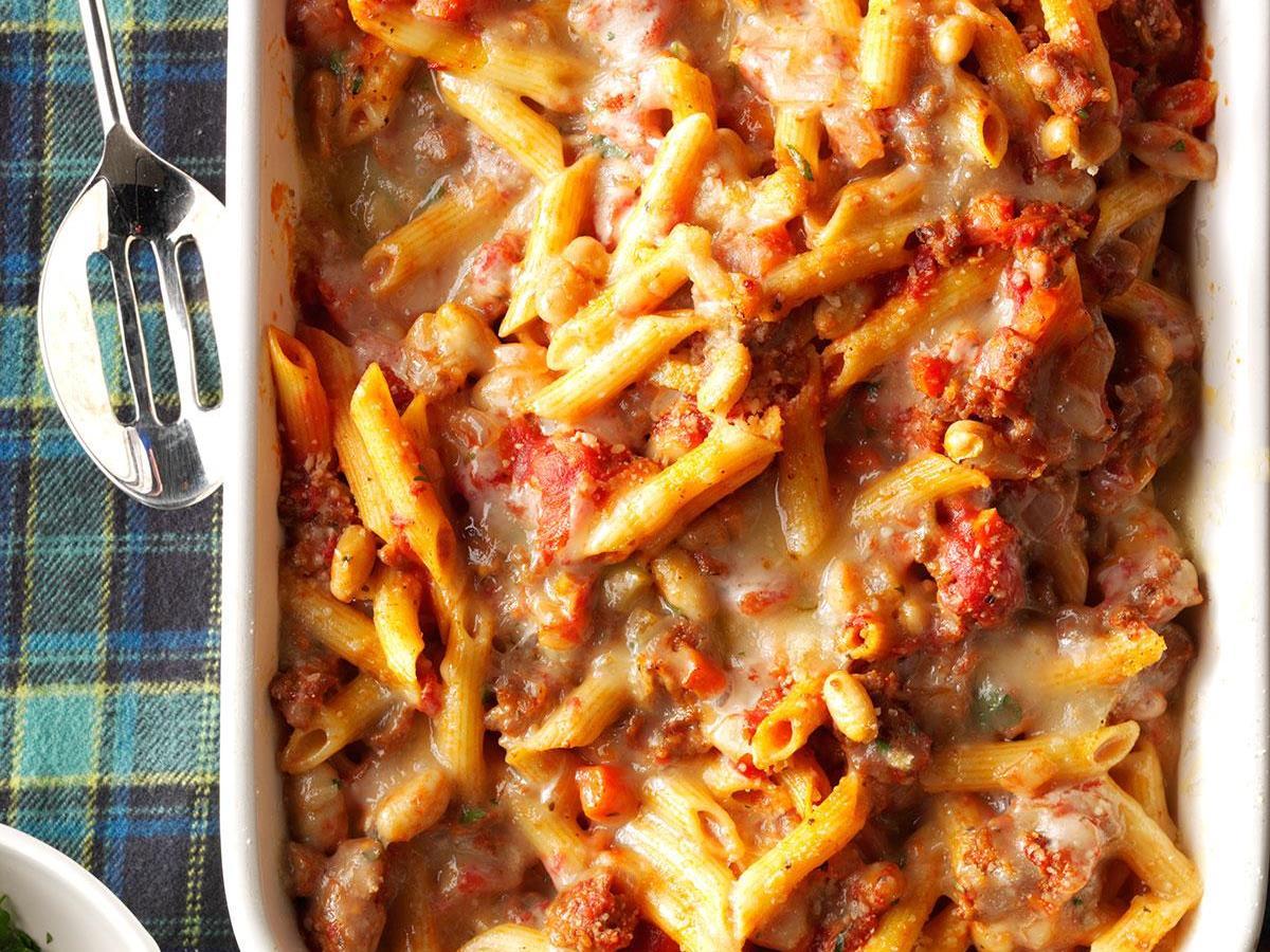 Pasta Fagioli al Forno
