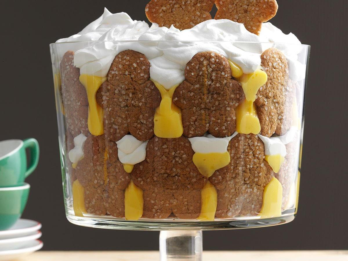 Trifle Bowl Christmas Centerpiece : Christmas gingerbread trifle recipe taste of home