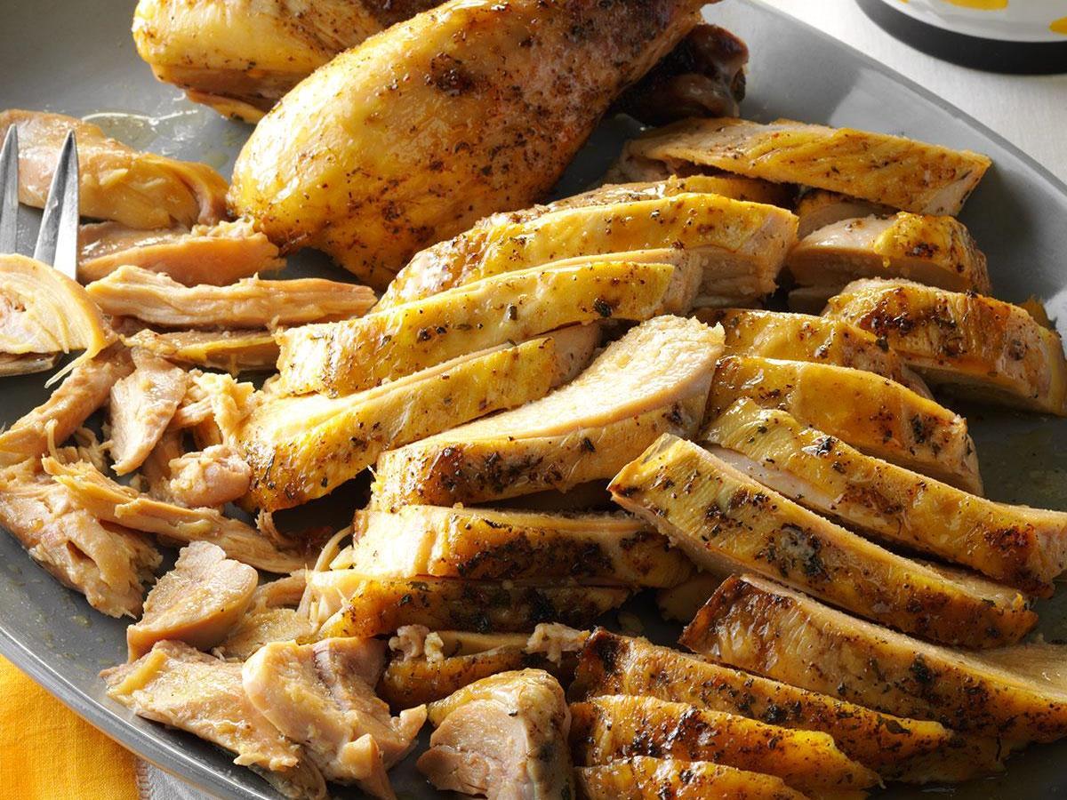 Slow-Cooker Roast Chicken