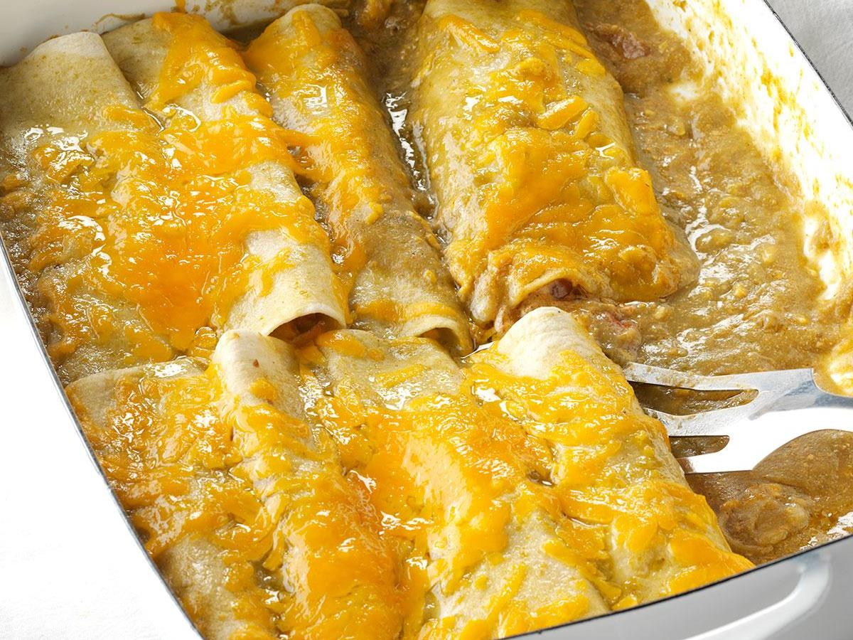 Onion & Green Chile Enchiladas