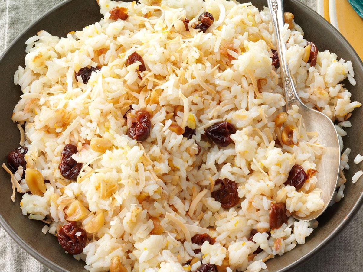 Jasmine Rice with Coconut & Cherries