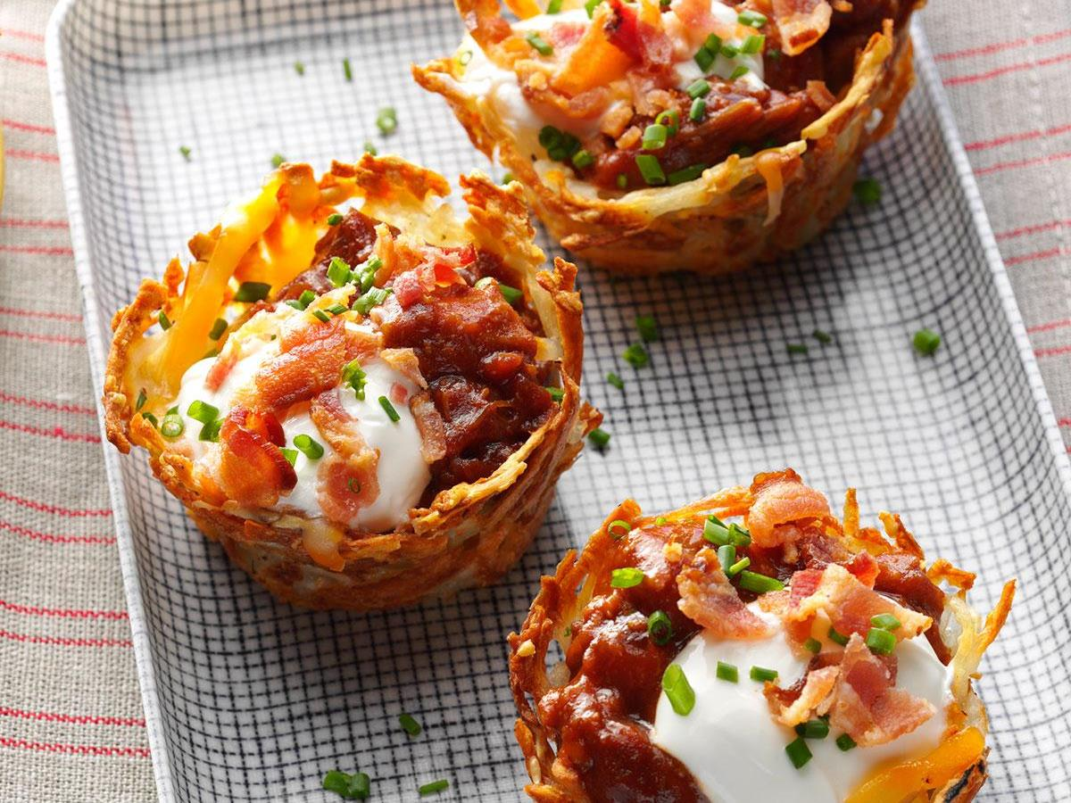 Loaded Pulled Pork Cups