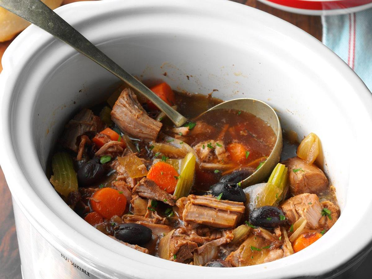 Slow Cooked Pork Stew Recipe How To Make It Taste Of Home