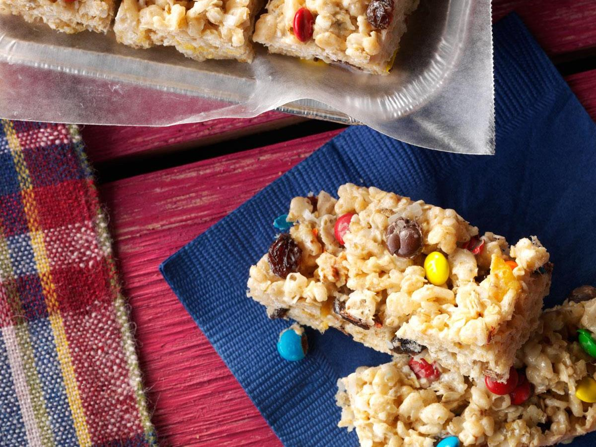 No Bake Cereal Cookie Bars