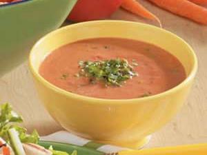 Six-ingredient Basil Tomato Soup
