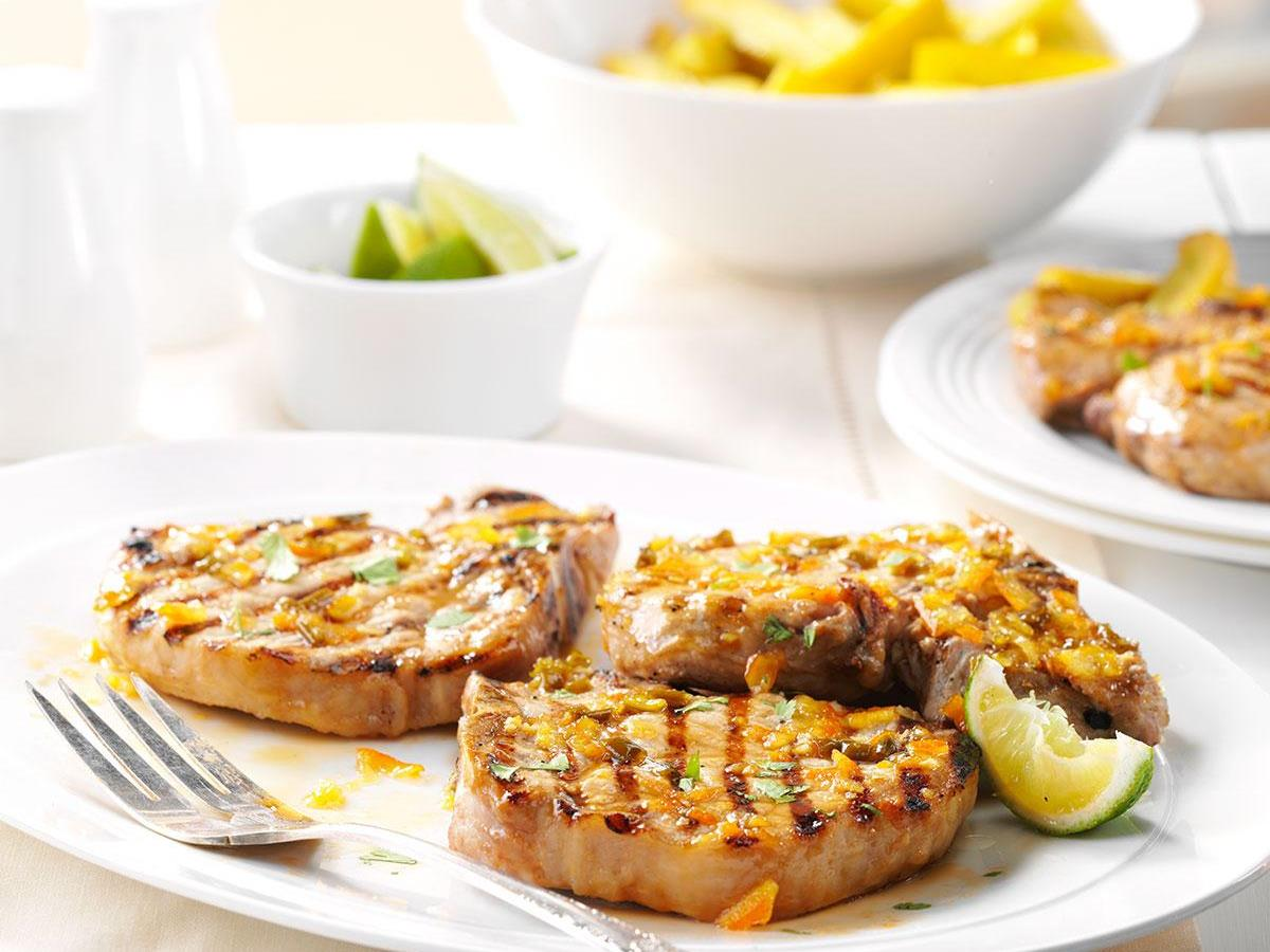 Lime-Glazed Pork Chops | Taste of Home