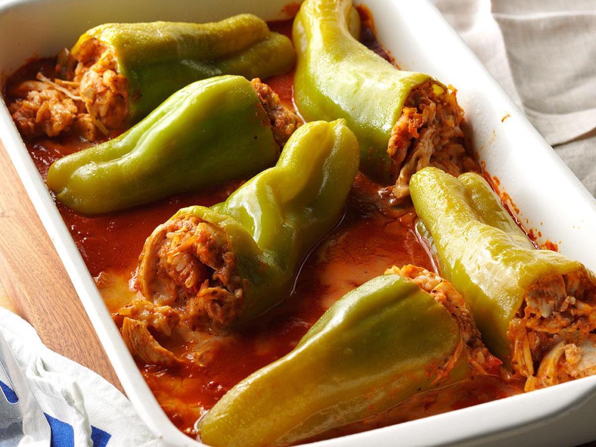 Chicken-Stuffed Cubanelle Peppers
