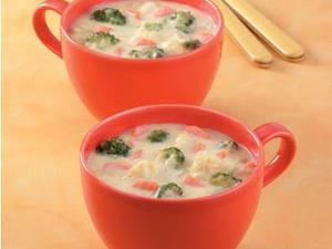 Cauliflower Broccoli Cheese Soup
