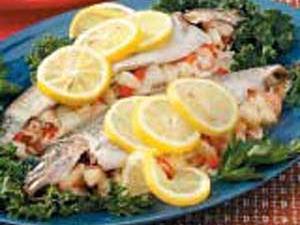 Seafood-Stuffed Rainbow Trout